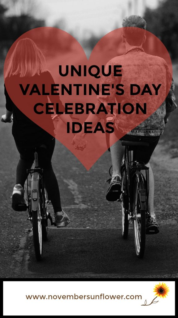 Happy Couple  Riding bikes Unique Valentine's Day Celebration