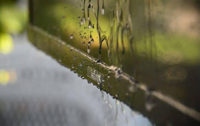 Rain dripping off the Veranda Series televisions