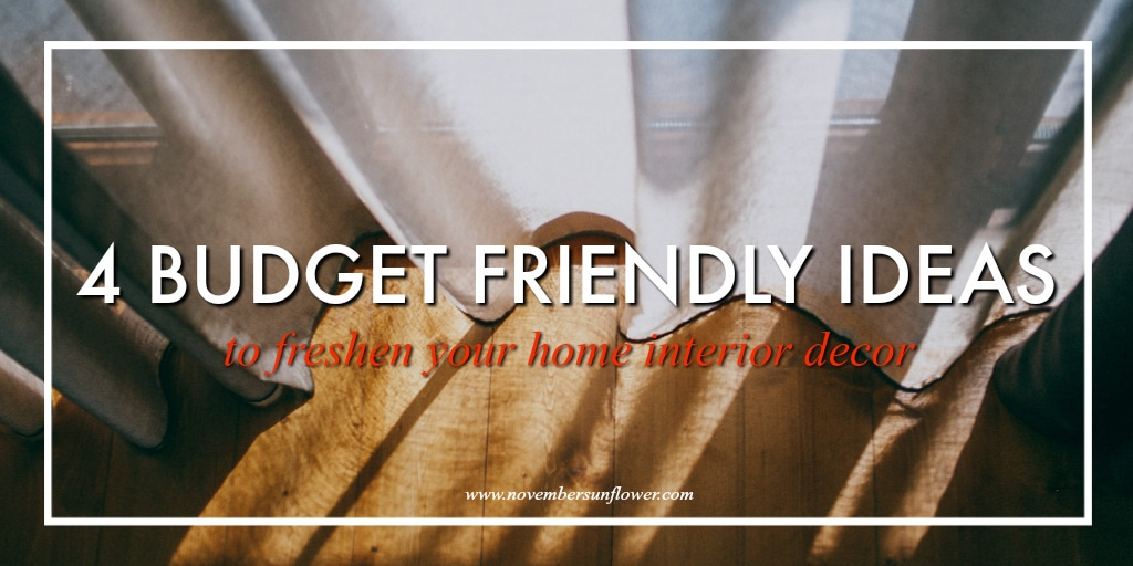 budget friendly home interior decor tips