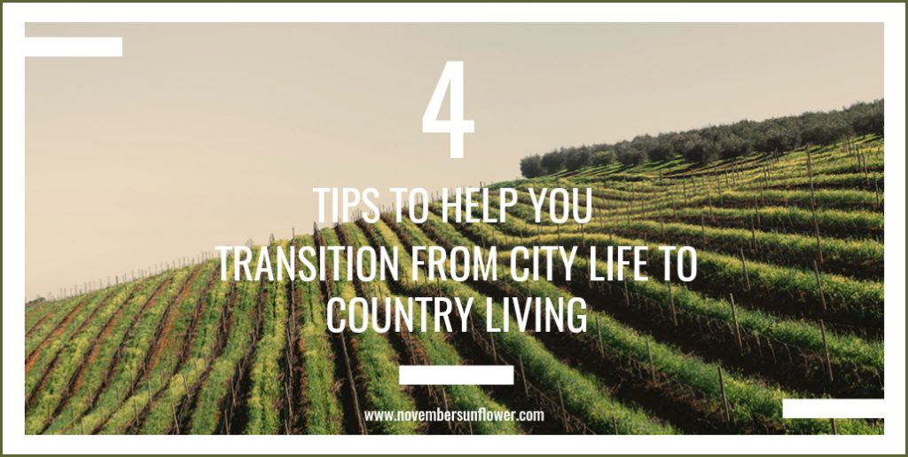 4 tips to help you transition from city life to country living
