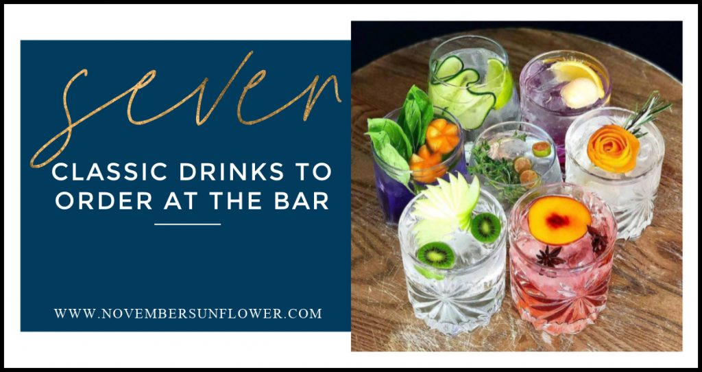 classic drinks to order at the bar