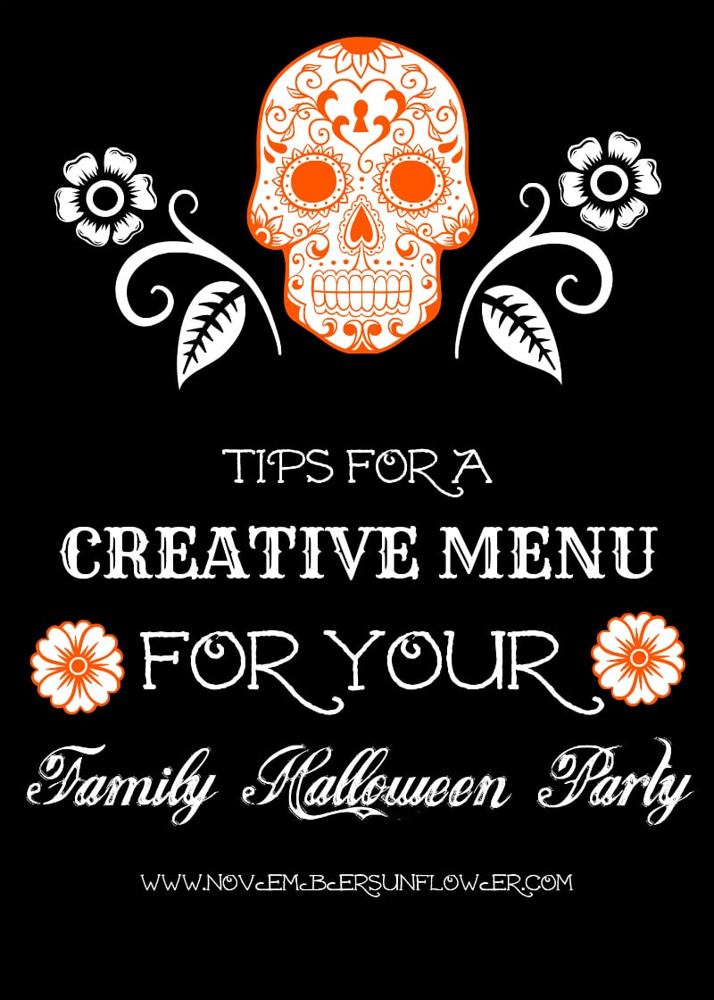 tips for a creative menu for your family halloween party
