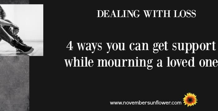 Dealing with loss of a loved one.