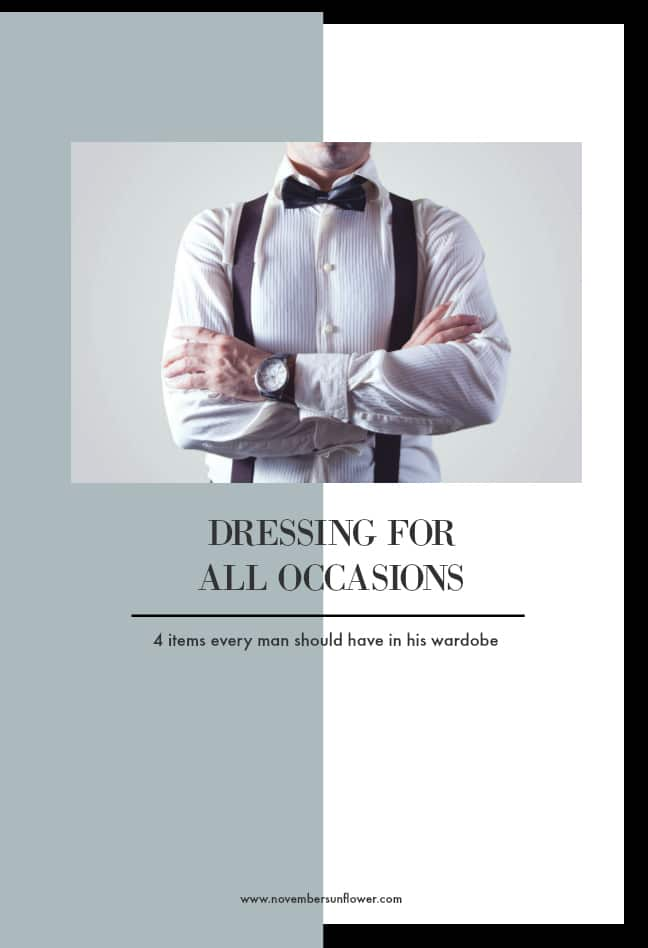 man in a bowtie - dressing for all occasions