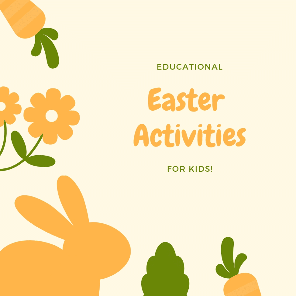educational easter activities with bunnies and flowers