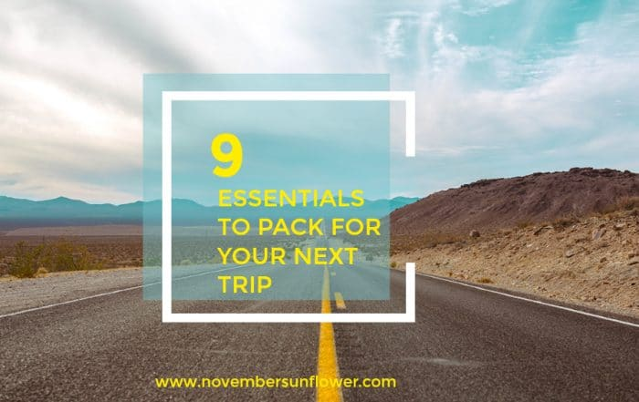 open road with mountains - 9 essentials to pack