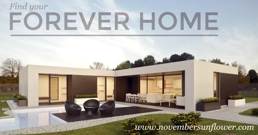modern white home against blue sky