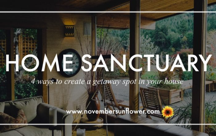 Home Sanctuary getaway spot in your own house