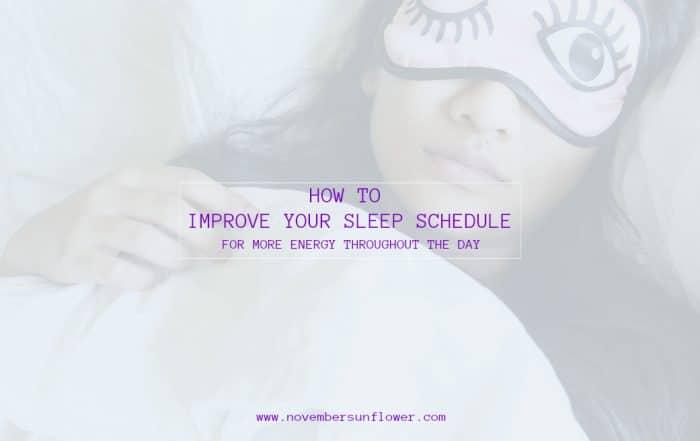 improve your sleep schedule