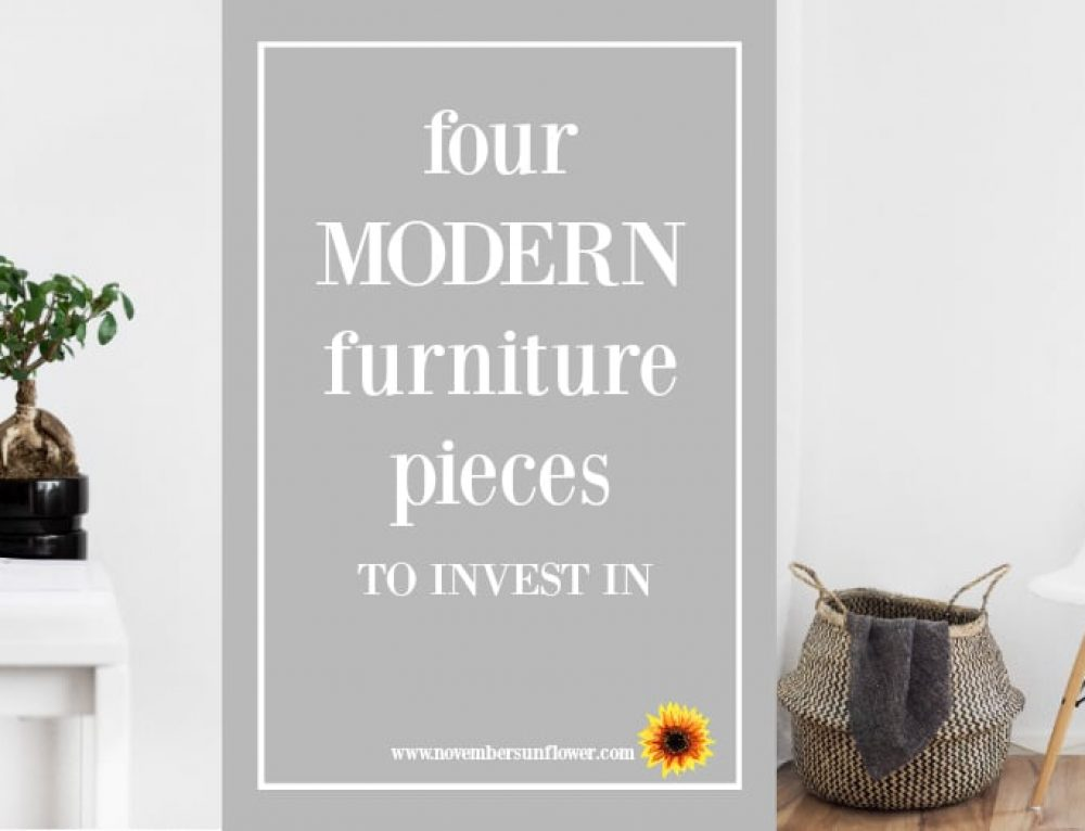 Love the Modern Look? 4 Furniture Pieces to Invest In