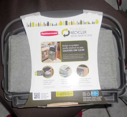 Rubbermaid Hidden Recycler Packaging