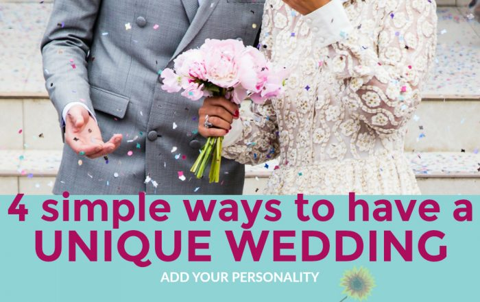 4 simple ways to have a unique wedding